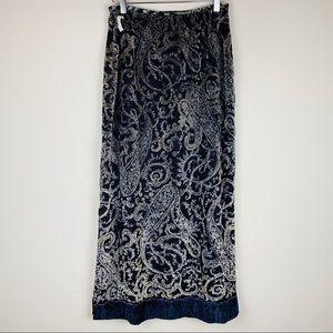 Harolds Silk Maxi Skirt paisley